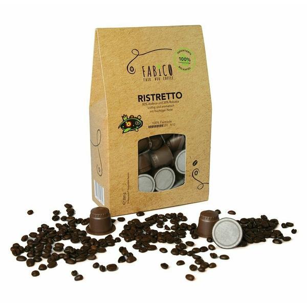 FABICO RISTRETTO, Bio-Kaffee in kompostierbarer Kapsel, 50 Stk. Packung