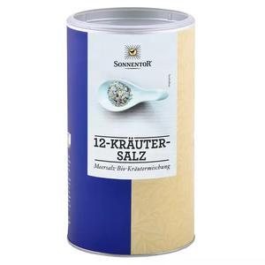 12-Kräutersalz, BIO-Meersalz-Kräutermischung, 1000 g Gastrodose
