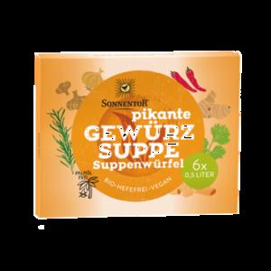 Gewürz Suppenwürfel pikant bio, 60 g
