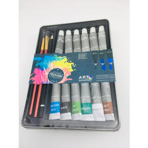 Aquarelle Künstlerfarbe SET Acryl Tuben Aquarell Kunst Set 16 Stück Malfarbe