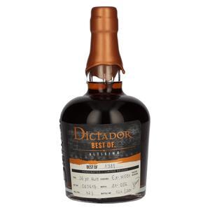 Dictador BEST OF 1981 ALTISIMO Colombian Rum 36YO/080617/EX-W051 42% Vol. 0,7l