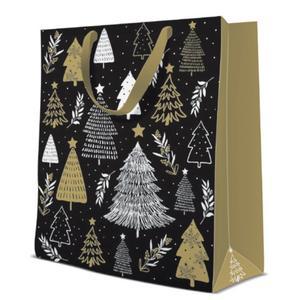 Geschenktasche Weihnachten Large 26,5x13,33,5cm Christmas Tree Stamps