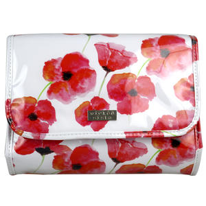 WS Watercolour Poppies Fold Out Bag with Hook - Kosmetiktasche