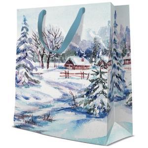 Geschenktasche Weihnachten Medium 20x10x25cm Winter Village