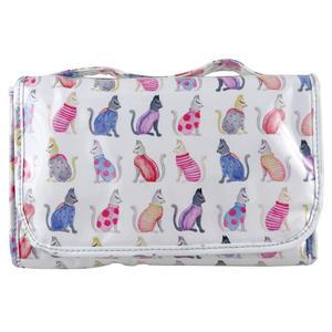 WS Cats by Kat Medium Tri-Fold Cos Bag - Kosmetiktasche