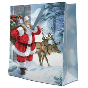 Geschenktasche Weihnachten Big 30x12x41cm Santa is Coming