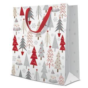 Geschenktasche Weihnachten Large 26,5x13x33,5cm Pine Forest