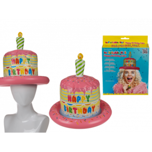 Aufblasbarer Hut, Happy Birthday Torte, Geburtstagshut