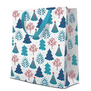 Geschenktasche Weihnachten Medium 20x10x25cm Christmas Woodland