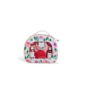 Kosmetik Geschenkset Royal Garden pink Kosmetiktasche
