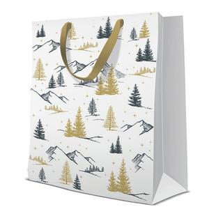 Geschenktasche Weihnachten Large 26,5x13x33,5cm Forest View