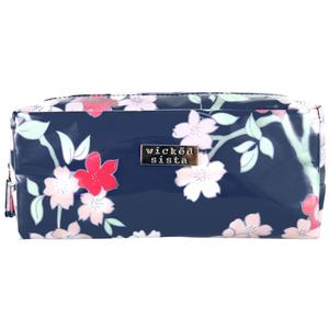 WS Lyrical Blooms Navy Rectangular Cos Bag - Kosmetiktasche