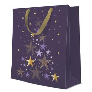 Geschenktasche Weihnachten Large 26,5x13x33,5cm Starlit Christmas