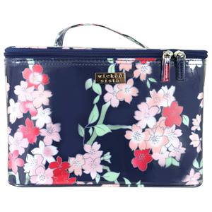 WS Lyrical Blooms Navy Large Beauty Case - Kosmetiktasche