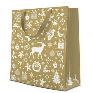 Geschenktasche Weihnachten Medium 20x10x25cm Celebrate Christmas