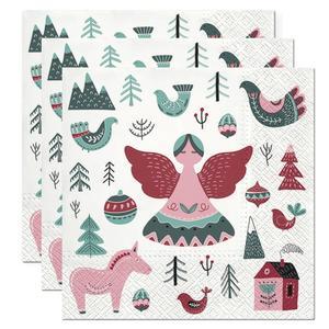Servietten, Papier 3-lagig, 33x33cm, 3x20 Stück Weihnachten Scandinavian Christmas