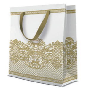 Geschenktasche Medium 20x25x10cm, extra dick, Royal Lace