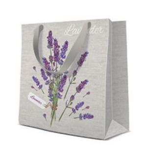 Geschenktasche Quadrat 17x17x6cm, Lavender for You