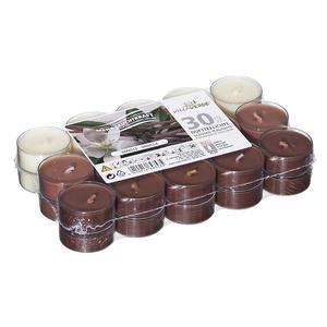 Duftteelichter, 30 Stück - Vanille transparente Hülle