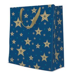 Geschenktasche Weihnachten Large 26,5x13,33,5cm Beautiful Stars