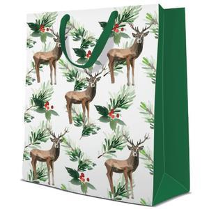 Geschenktasche Weihnachten Medium 20x10x25cm Deers and Holly