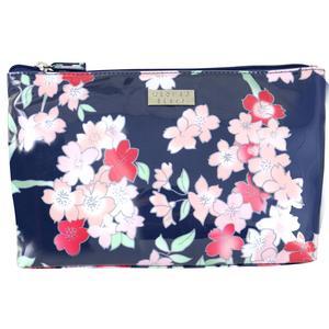 WS Lyrical Blooms Navy Large Luxe Cos Bag - Kosmetiktasche