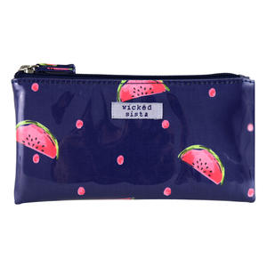WS Watermelon Spots Small Flat Purse - Kosmetiktasche
