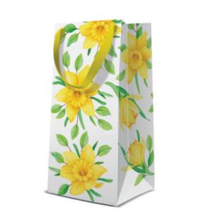 Geschenktasche Narrow 10x22x7cm, Daffodils in Bloom