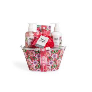 Kosmetik Geschenkset Royal Garden pink Bucket