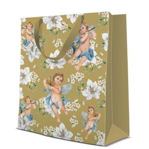 Geschenktasche Weihnachten Medium 20x10x25cm Angels in Flowers