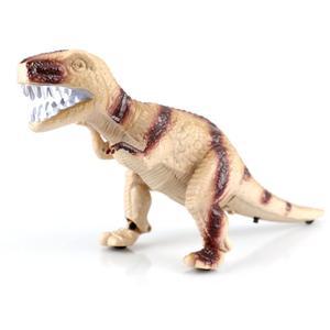 T-REX Dino (braun),Elektrischer Dinosaurier mit Hellen LED AugenBewegt Sich vorwärts,dreht den Kopf,hebt und senkt die Arme und gibt Saurier Geräusche von sich! - Kopie