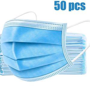 50 Stück Mund und Nasenschutzmaske