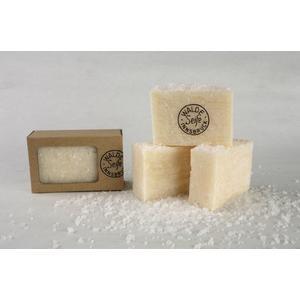 Handgeschöpfte Salzseife 100g ohne Parfüm