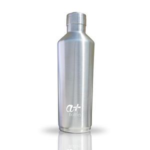 Edelstahl Trinkflasche von a+ Bottles   Isolierflasche, Wasserflasche, Thermosflasche, Sportflasche   BPA frei   Premium Design   Doppelwandig und Vakuumisoliert   Für Sport, Yoga, Wandern, Alltag   Edelstahl 500ml