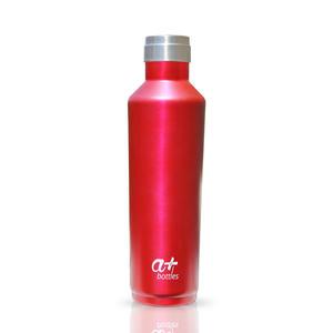 Edelstahl Trinkflasche von a+ Bottles   Isolierflasche, Wasserflasche, Thermosflasche, Sportflasche   BPA frei   Premium Design   Doppelwandig und Vakuumisoliert   Für Sport, Yoga, Wandern, Alltag   Ruby Red 750ml