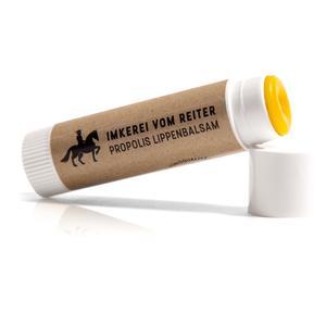 Propolis Lippenbalsam Vom Reiter, 100% natürliche Lippenpflege mit Bienenwachs, Olivenöl, Honig und Propolis, Hergestellt in den Bergen Österreichs