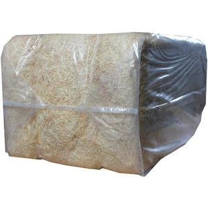 Holzwolle naturfarben, Füllmaterial für Pakete, Versand, Kartons, Präsentkörbe, Osternestmateria ca. 20 kg Ballen (30111)