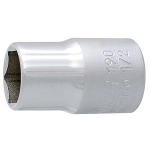 Unior Sechskant-Steckschlüssel mit Innenvierkant-Antrieb 1/2 Dim. 24 Art. 190/1 6p (600865 - 190/1 6p)