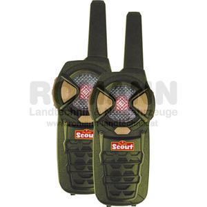SCOUT Funkgerät PMP 446 MHz, ca. 50 x 150 x 35 mm, mit 6 Kanälen, 500 mW, farbliche Kanalanzeige, Lautstärke mit 4 Stufen, optische Empfangsanzeige nicht nach EN71