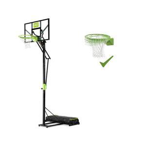 EXIT Polestar versetzbarer Basketballkorb mit Dunkring - grün/schwarz