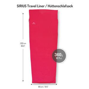 Hüttenschlafsack aus 100% Baumwolle. Reiselacken, Inlett für den Schlafsack. Hygienschutz beim Wandern oder auf Reisen, rot