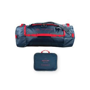 Reisetasche, Outdoortasche, Sporttasche, 60l mit Rucksack-Funktion, Duffle Bag, wasserdicht blau, faltbar