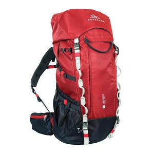 Trekking-Rucksack, Reiserucksack, Backpacker Rucksack, 50l - 60l, rot, Damen Herren, Top- u. Frontlader