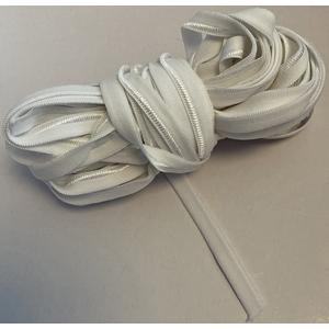 Gummiband Einziehgummi 8 mm / 10m Farbe Weiss samtig glänzend