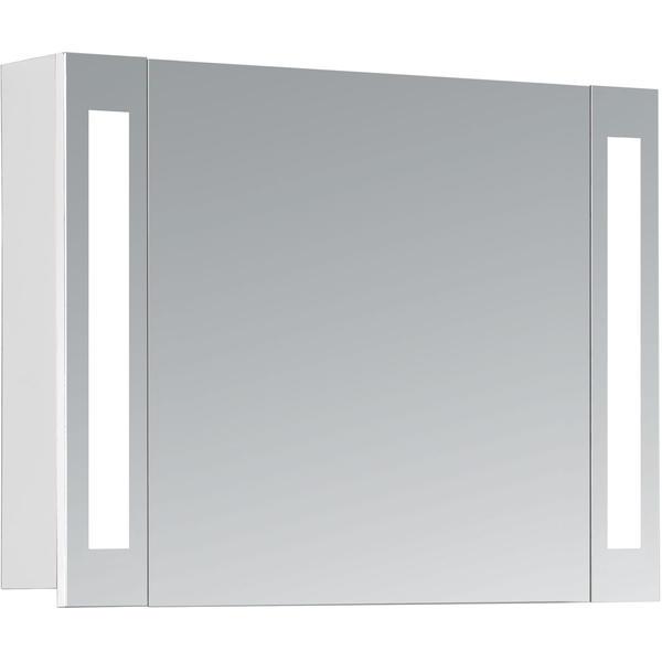 HAPA Design Spiegelschrank Venedig 80 weiß 1-türig mit LED Beleuchtung (80 x 60 x 14 cm)