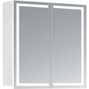 HAPA Design Spiegelschrank Milano weiß mit LED Beleuchtung (60 x 60 x 14 cm)