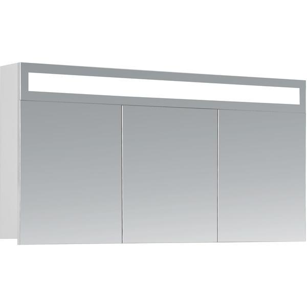 HAPA Design Spiegelschrank Miami weiß mit LED Beleuchtung und Innenbeleuchtung (120 x 60 x 14 cm)