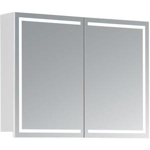 HAPA Design Spiegelschrank Milano weiß mit LED Beleuchtung (80 x 60 x 14 cm)