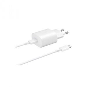 Samsung Schnellladegerät EP-TA800XW USB Typ-C 25W weiß bk