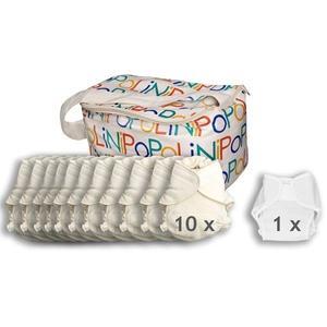 Popolini UltraFit Set Organic Komplettset Stoffwindeln 3-15kg